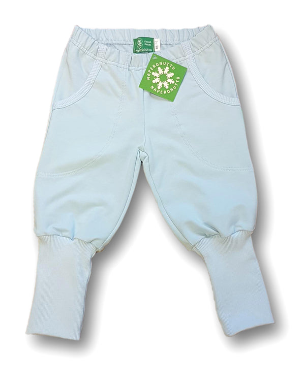 NAPERONUTTU organic stretch college cotton joggers BABY BLUE