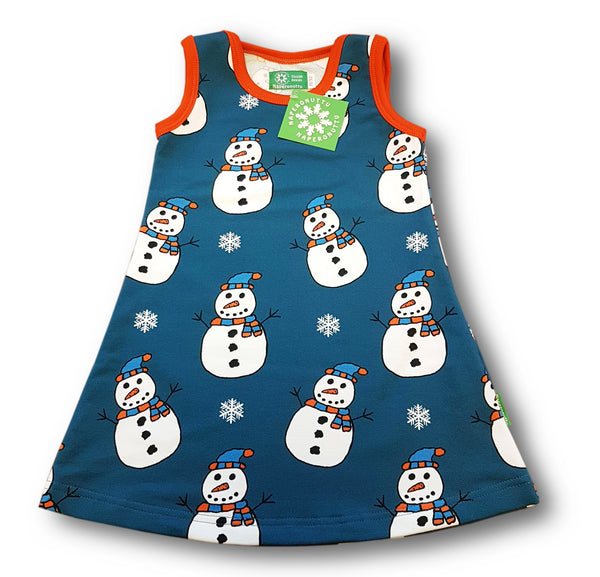 NAPERONUTTU organic stretch college cotton sleeveless tunic SNOWMAN