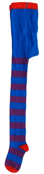 DUNS Sweden organic cotton tights PURPLE/BLUE STRIPES