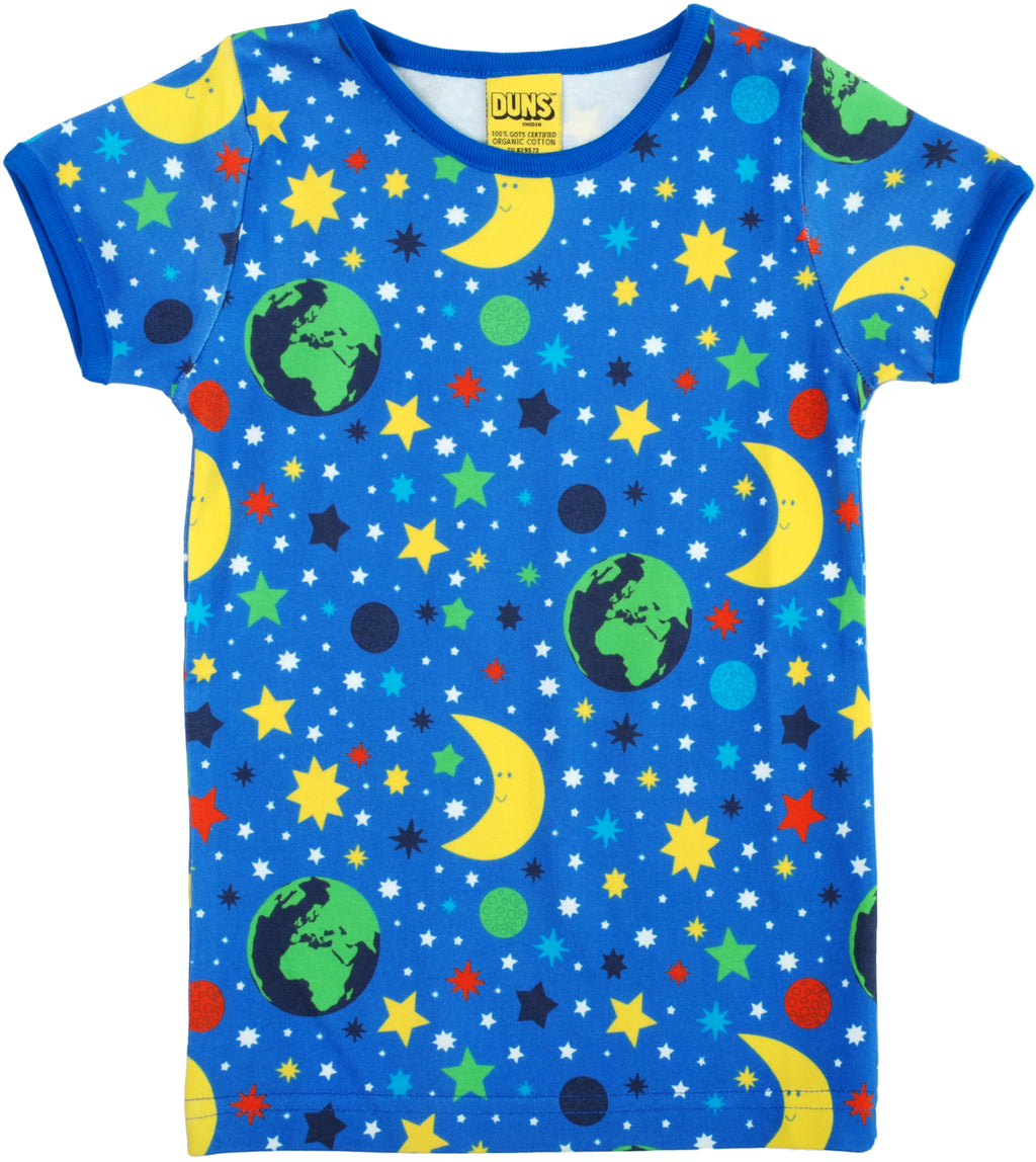 DUNS organic cotton T shirt MOTHER EARTH/BLUE