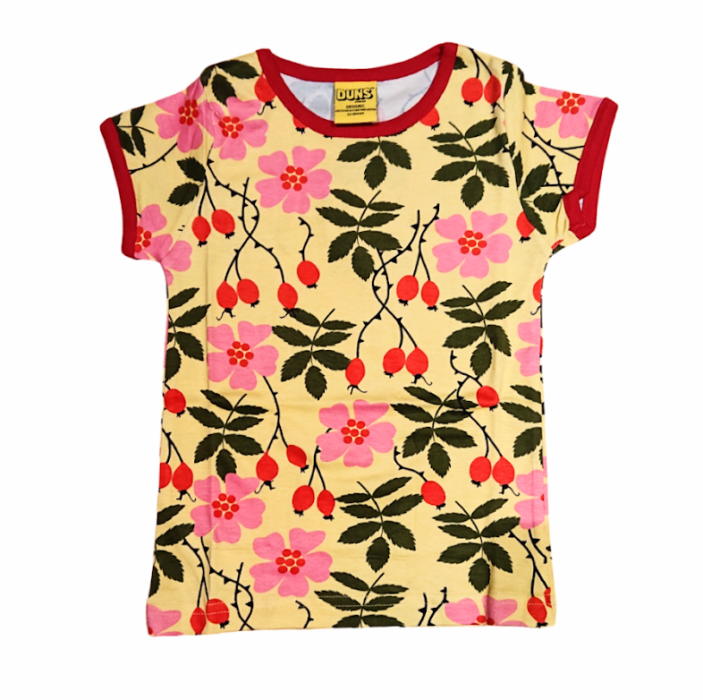 DUNS organic cotton T shirt ROSEHIP