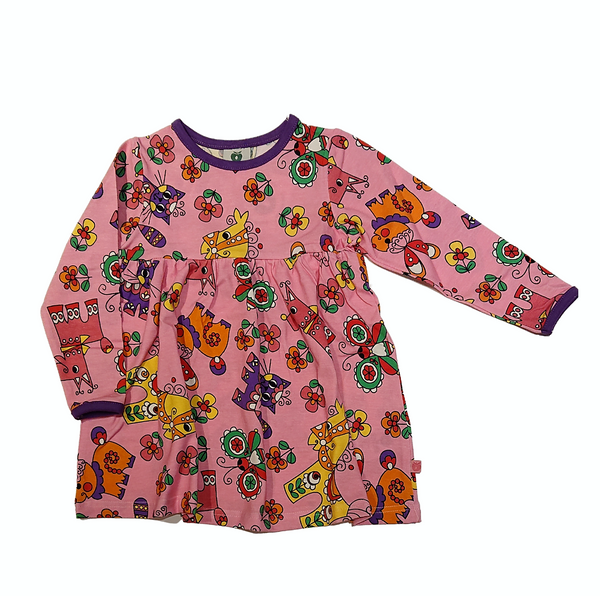SMAFOLK organic cotton dress ANIMALS