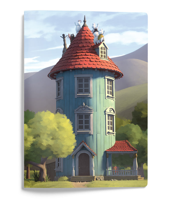 MOOMIN softcover notebook A5 - MOOMIN HOUSE/GUTSY ANIMATION