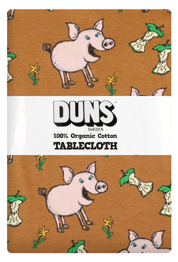 DUNS organic cotton tablecloth PIGS/BROWN