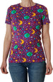 DUNS organic cotton T shirt ADULTS MOTHER EARTH - VIOLET
