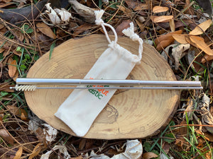 Telescope Stainless Steel Straw and Cleaner with a Cotton Carrying Case