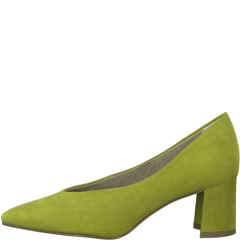 Marco Tozzi 22416-34 LIME Faux Suede Court Shoe