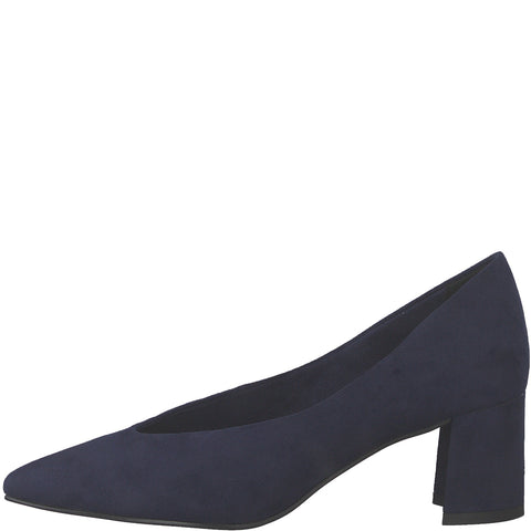Marco Tozzi 22416-34 NAVY Faux Suede Court shoe
