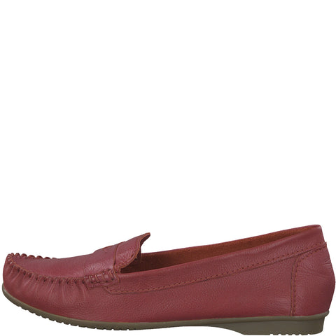 Marco Tozzi Ladies Moccasin 24225-22 RED slip on Casual Shoe