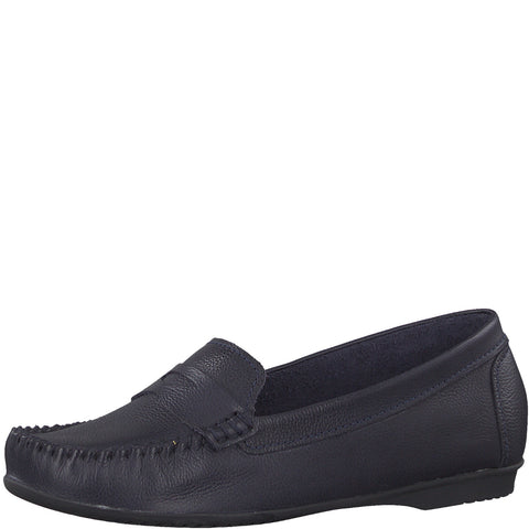 Marco Tozzi 24225-22 NAVY Moccassin Slip on Casual Shoe