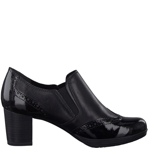 Marco Tozzi 24404-23 BLACK Patent  /Leather Trouser Shoe / Boot .