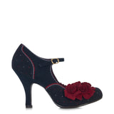 Ruby Shoo Ashley court Shoe in Navy. Matching London bag also available