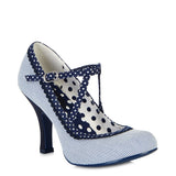 Ruby Shoo Jessica court shoe in Blue Stripe