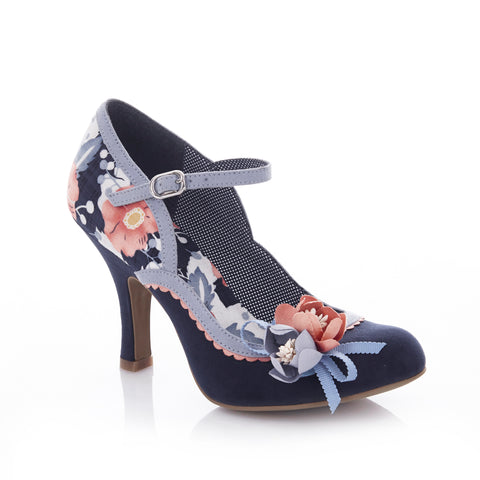 Ruby Shoo Silvia Court Shoe in Navy Blue