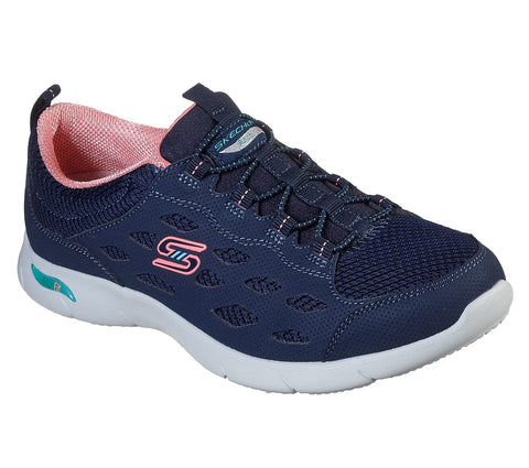 Skechers Arch Fit Refine 104090NVCL Bungee laced Slip On Trainer