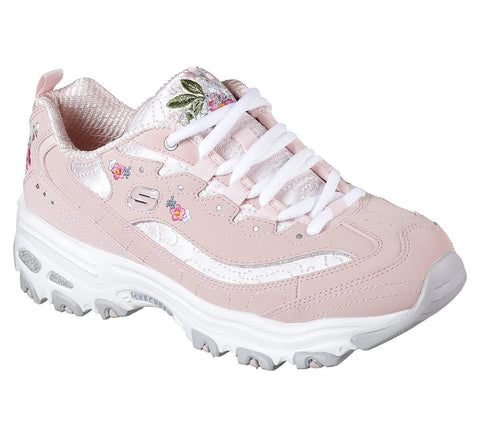 Skechers Ladies D'LITES - BRIGHT BLOSSOMS  PINK 11977LTPK