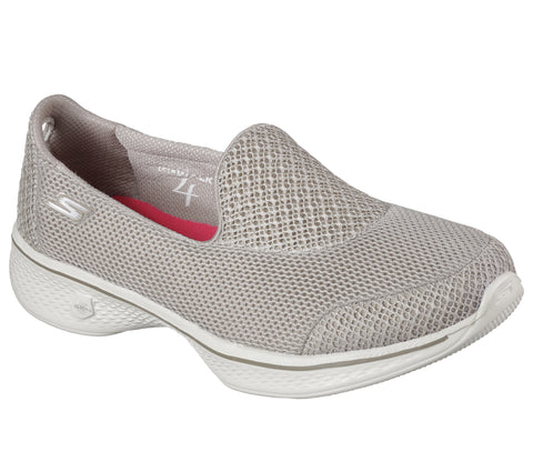 Skechers GoWalk 4 Ladies High Comfort Shoe In Taupe14170