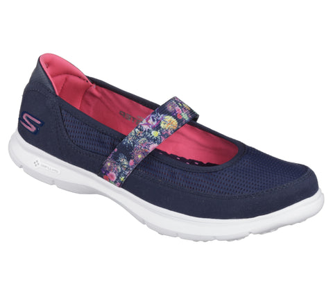Skechers Go Step Ladies Comfort Bar Shoe in Navy 14214