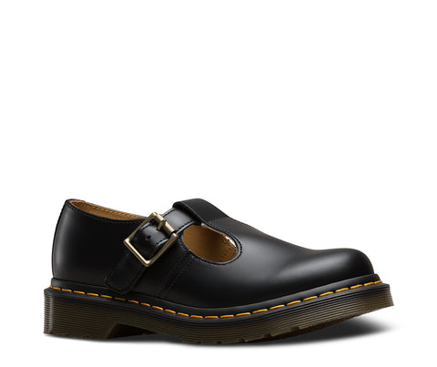 DR Martens Polley Bar Shoe Black Smooth Leather