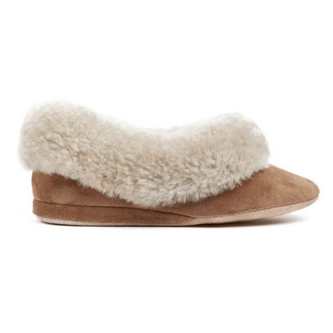 Morlands Ladies Seaforth Mole Suede Sheepskin Lined Slipper