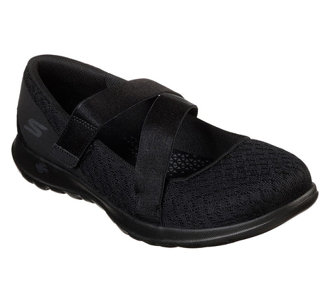 Skechers Ladies Go Walk Lite Devine 15467BBK Black
