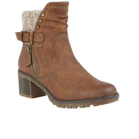 Lotus Relife Ruthie TAN Water resistant ankle boot