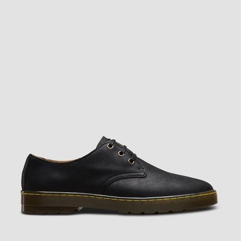 Dr Martens Black Leather CORONADO 3 Eyelet Shoe