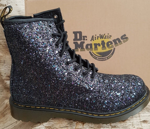 Dr Martens 1460Y Glitter BLACK 25097993 Boot with zip