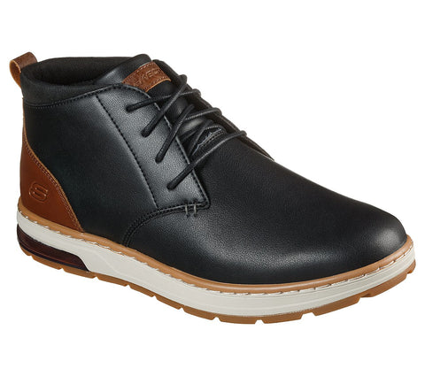 Skechers Evenson 210141 Black Leather Chukka Boot