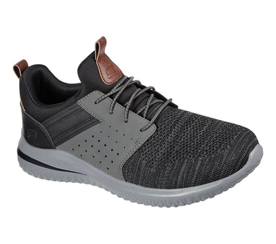 Skechers Mens trainer Delson  210238bkgy Black/grey