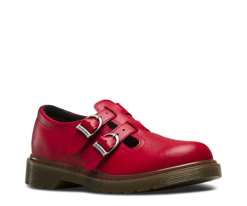 Dr Martens 8065 Twin Strap Red Leather Shoes
