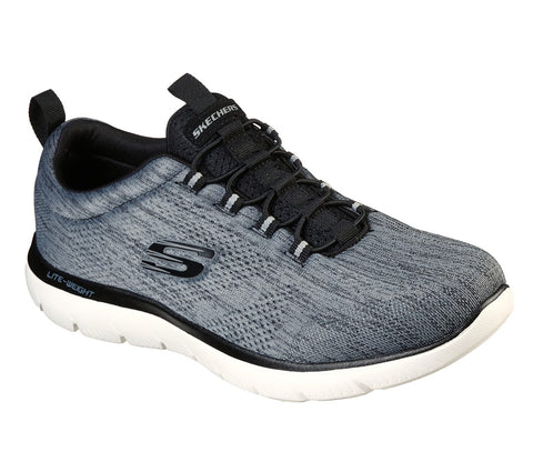 Skechers Summits Louven BLACK/WHITE 232186BKW  bungee laced trainer