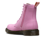 Dr Martens Delaney 8 eyelet Boot Mallow Pink Leather with laces and zip