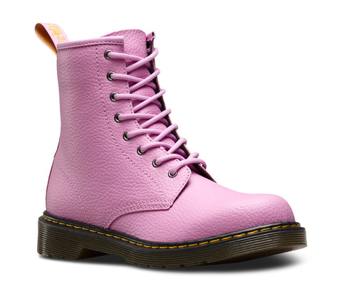 Dr Martens Delaney Pink Patent 8 eyelets Kids Leather Zip Boots -3 yle38qQ