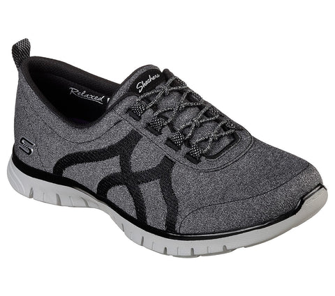 Skechers RELAXED FIT: EZ FLEX RENEW 23462Bkgy BLACK .