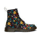 Dr Martens Delaney 8 eyelet Boot Wanderflora Floral Canvas with laces and zip