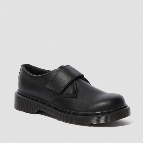Dr Martens Kamron J BLACK Leather school shoes
