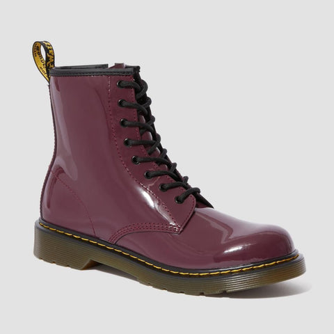 Dr Martens 1460 J/Y Plum Patent with Laces and Zip