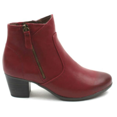 Jana 25366 RED Wide Fit Ankle Boot