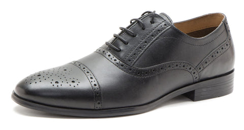 Red Tape HARTWELL Mens Leather Oxford Toe Cap Brogue Shoes
