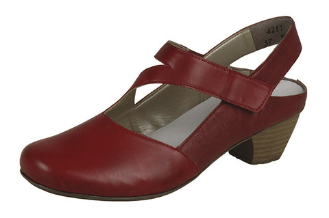 Rieker 417779-33 bar shoe in red