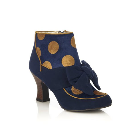 Ruby Shoo Seren NAVY ankle Boot