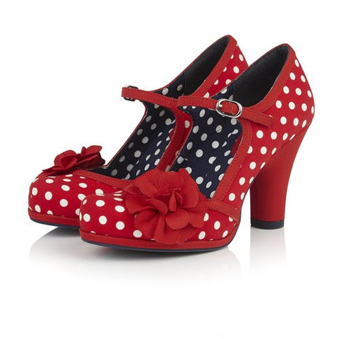 Ruby Shoo Hannah RED SPOT Bar Shoe