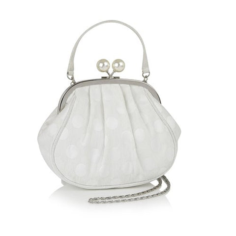 Ruby Shoo Arco WHITE/SILVER bag
