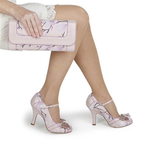 Ruby Shoo Charleston PINK Clutch bag to match Cleo Shoes