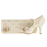 Ruby Shoo Bag London inCream to match Emily Court Shoe Cream