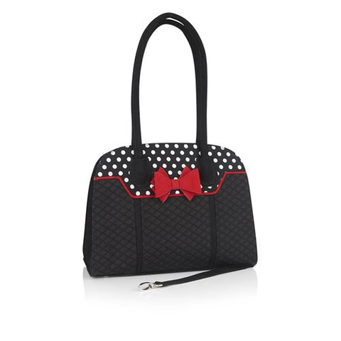 Ruby Shoo Kobe BLACK/RED bag to match Crystal Shoe