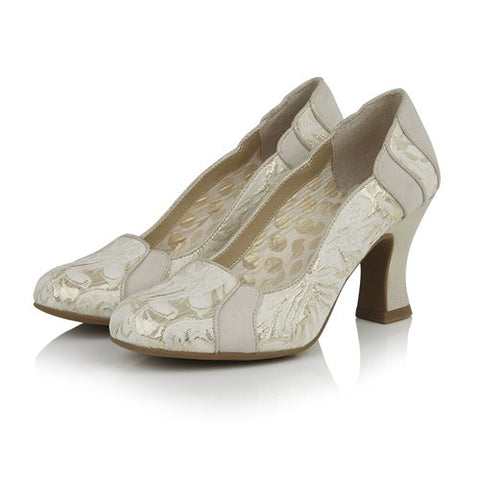 Ruby Shoo Priscilla CREAM/GOLD Shoe