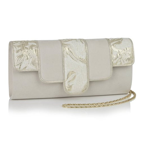 Ruby Shoo Canberra CREAM/GOLD Bag to match Pricilla shoe