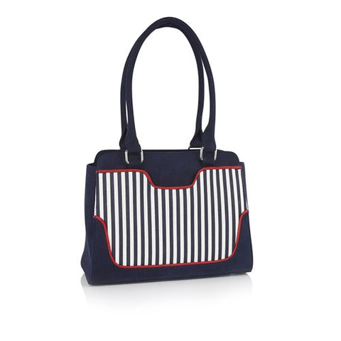 Ruby Shoo Tunis NAVY STRIPE Bag to match Davina Shoe